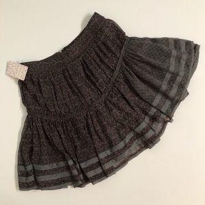 Free People NWT ruffled skirt raw hem boho look
